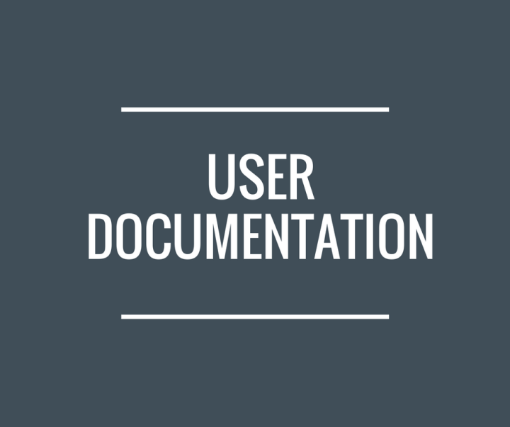Text reading: 'User Documentation'.