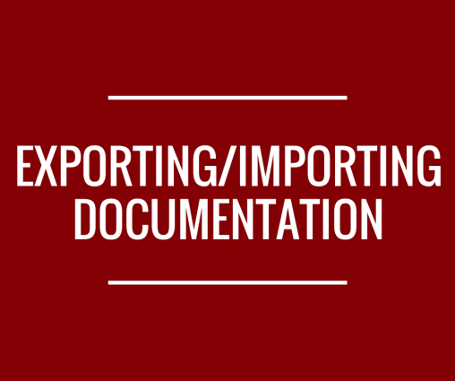 Text reading 'Exporting/Importing Documentation'.