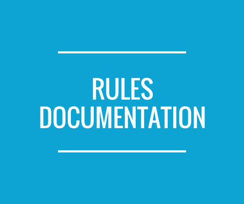 Text reading: 'Rules Documentation'.