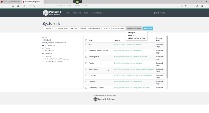 A screenshot of the PerformX Content Workbench dashboard.